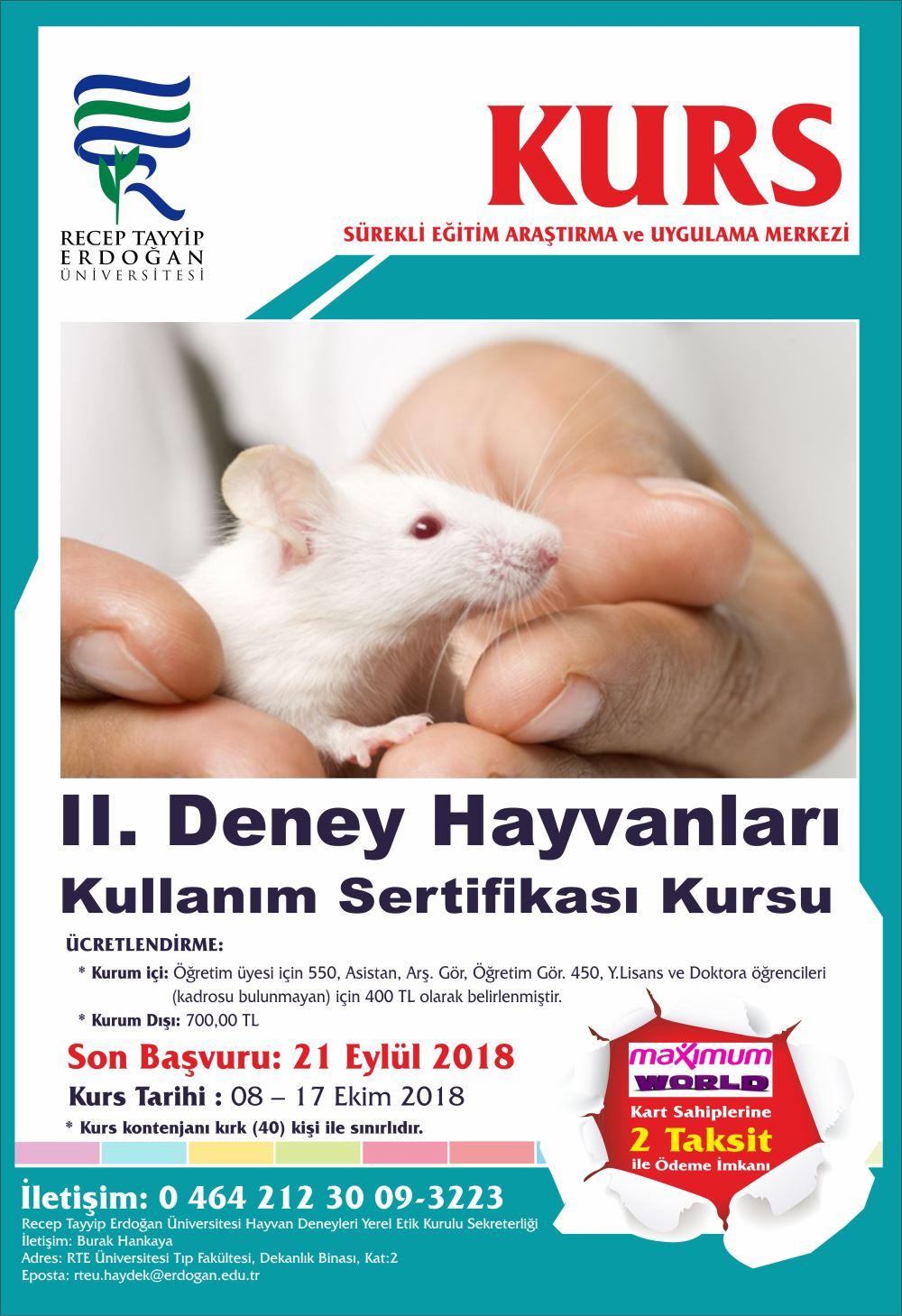 deney hayvanları eğitimi