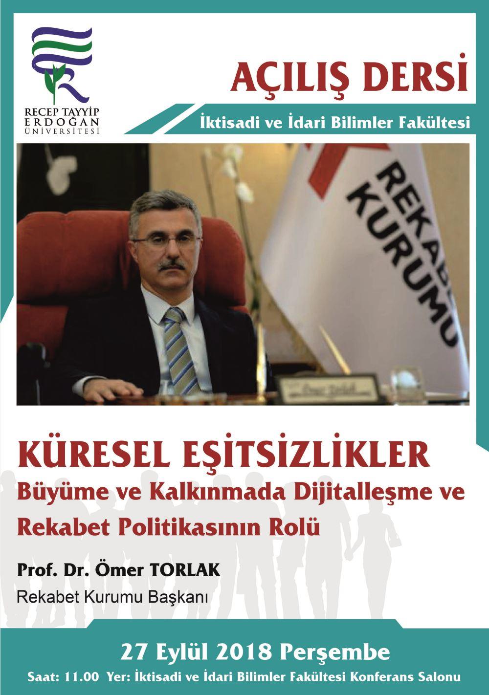 Açılış Dersi - Prof. Dr. Ömer TORLAK