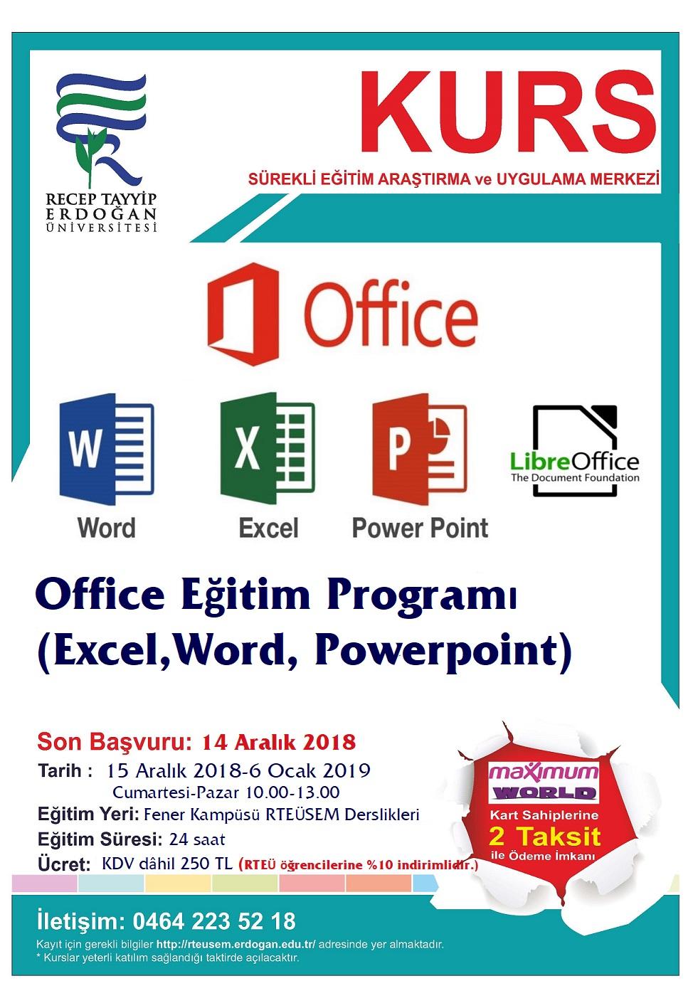 Office Eğitim Programı