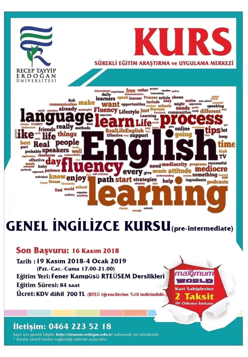 Genel İngilizce Kursu