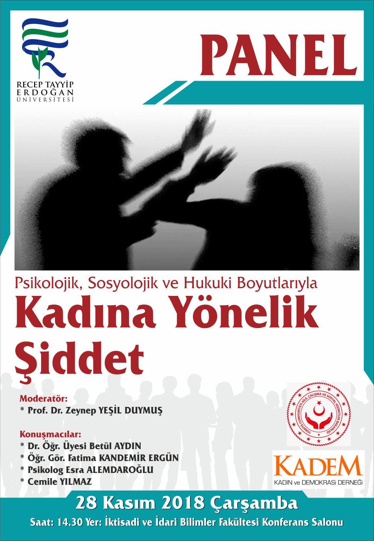 panel-kadına şiddet