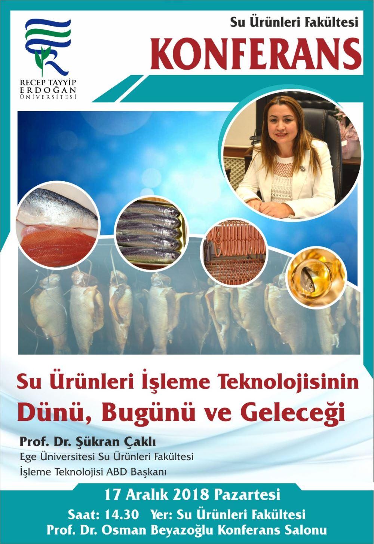 su ürünleri işleme -konferans