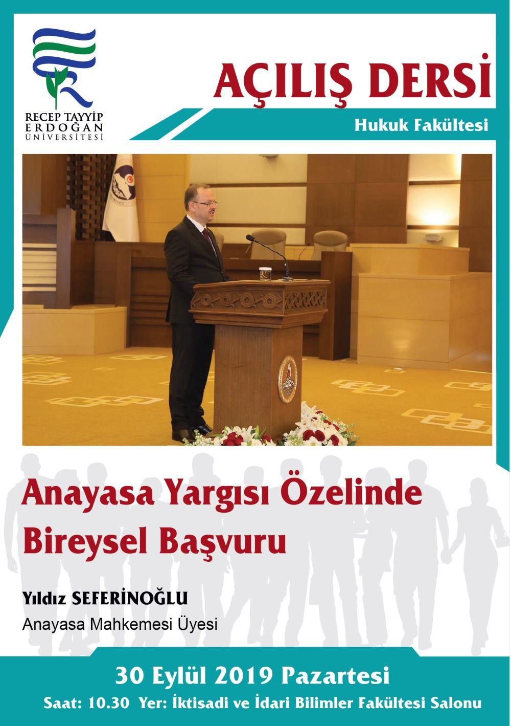 Açılış Dersi (Anayasa Yargısı Özelinde Bireysel Başvuru)