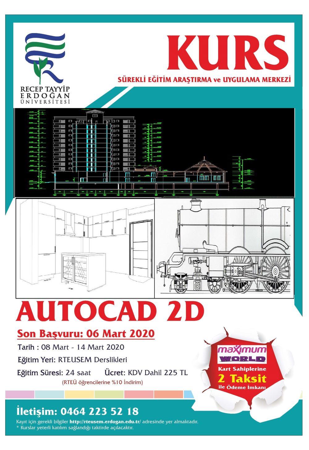 Autocad 2D Kursu