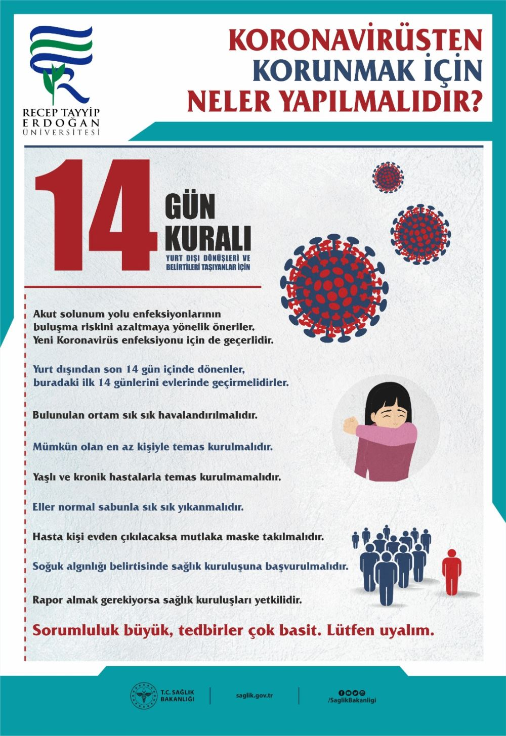 Koronavirüs (COVİD-19) 14 Kural