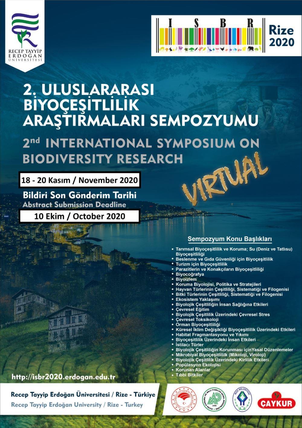 2. Uluslararası Biyoçeşitlilik Araştırma Sempozyumu
