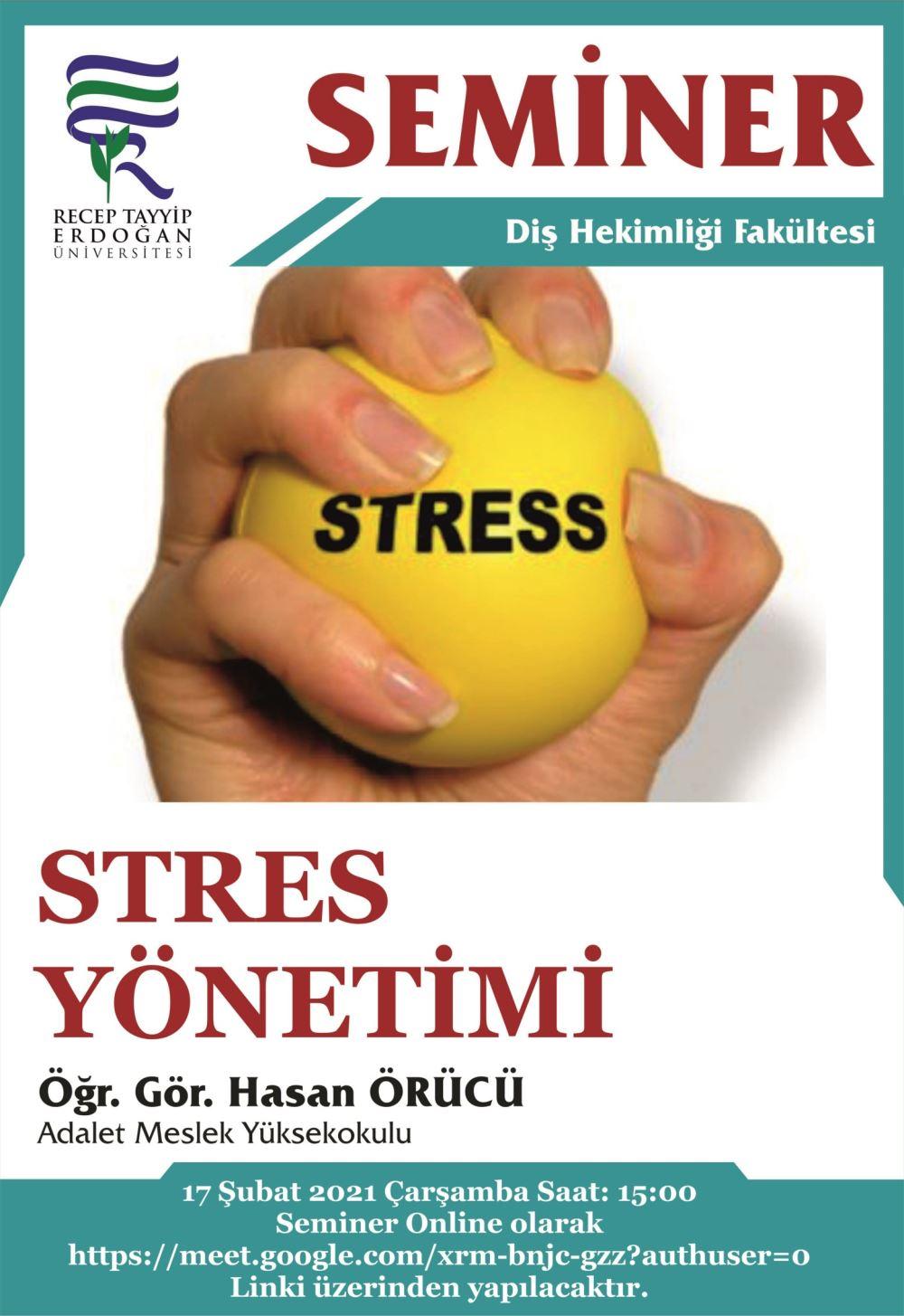 Seminer - Stres yönetimi