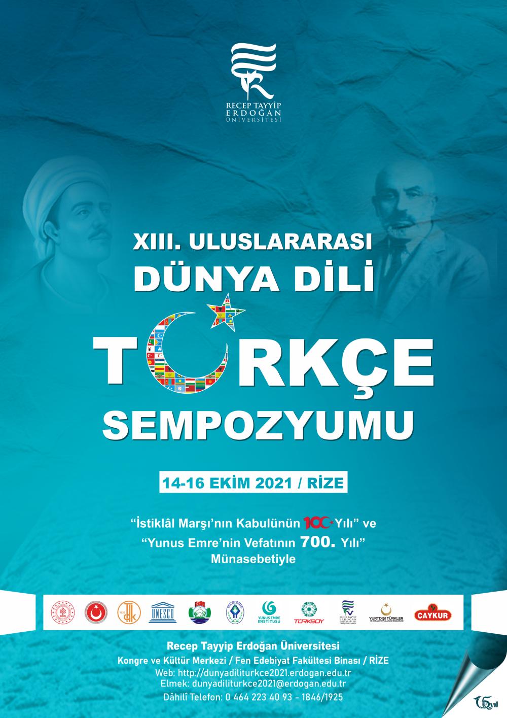 xııı- Uluslararası Dünya Dili Türkçe Sempozyumu