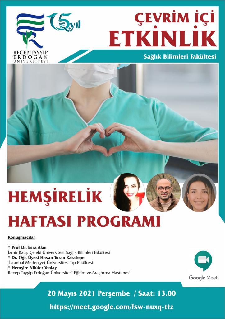 Hemşirelik Haftası Programı