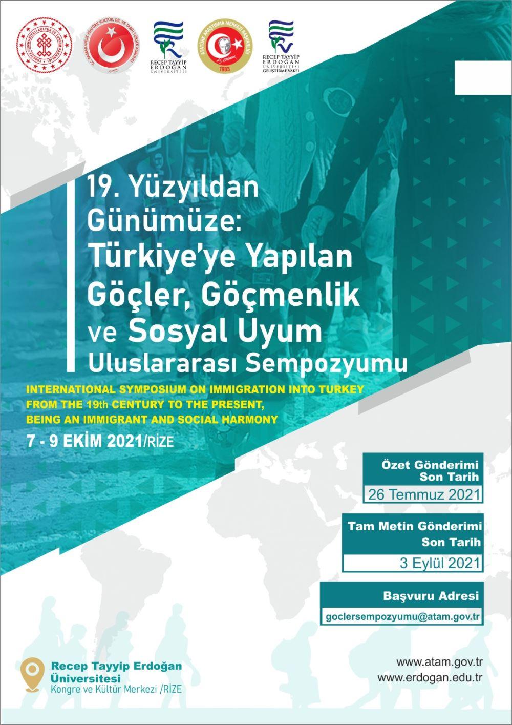19. Yüzyıldan Günümüze Türkiye'ye Yapılan Göçler, Göçmenlik ve Sosyal Uyum Uluslaratası Sempozyumu